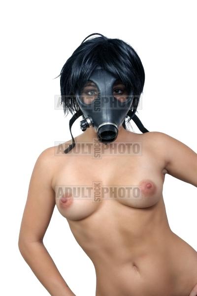 naked gas mask girl